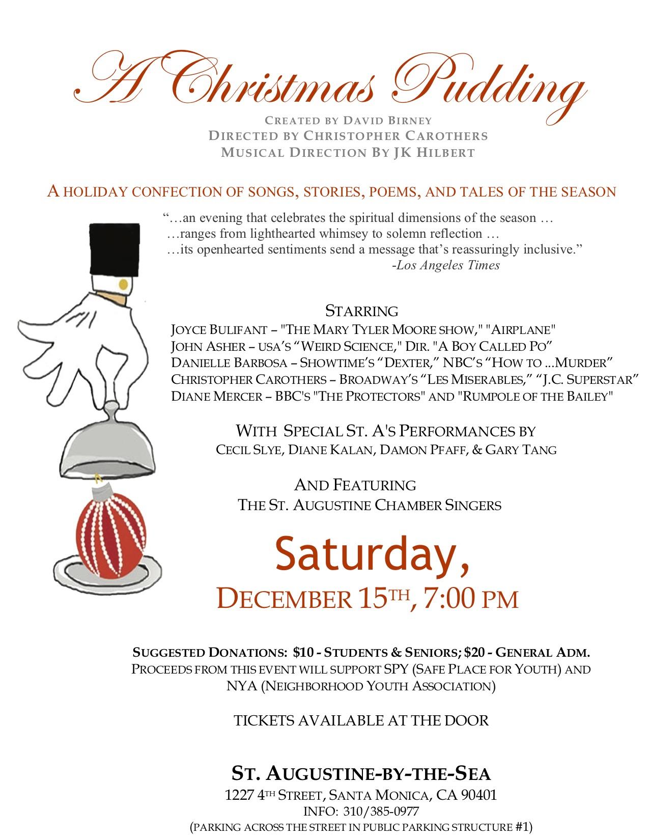 Christmas Pudding Show, 7pm Sat  Dec  15, 2018 | St